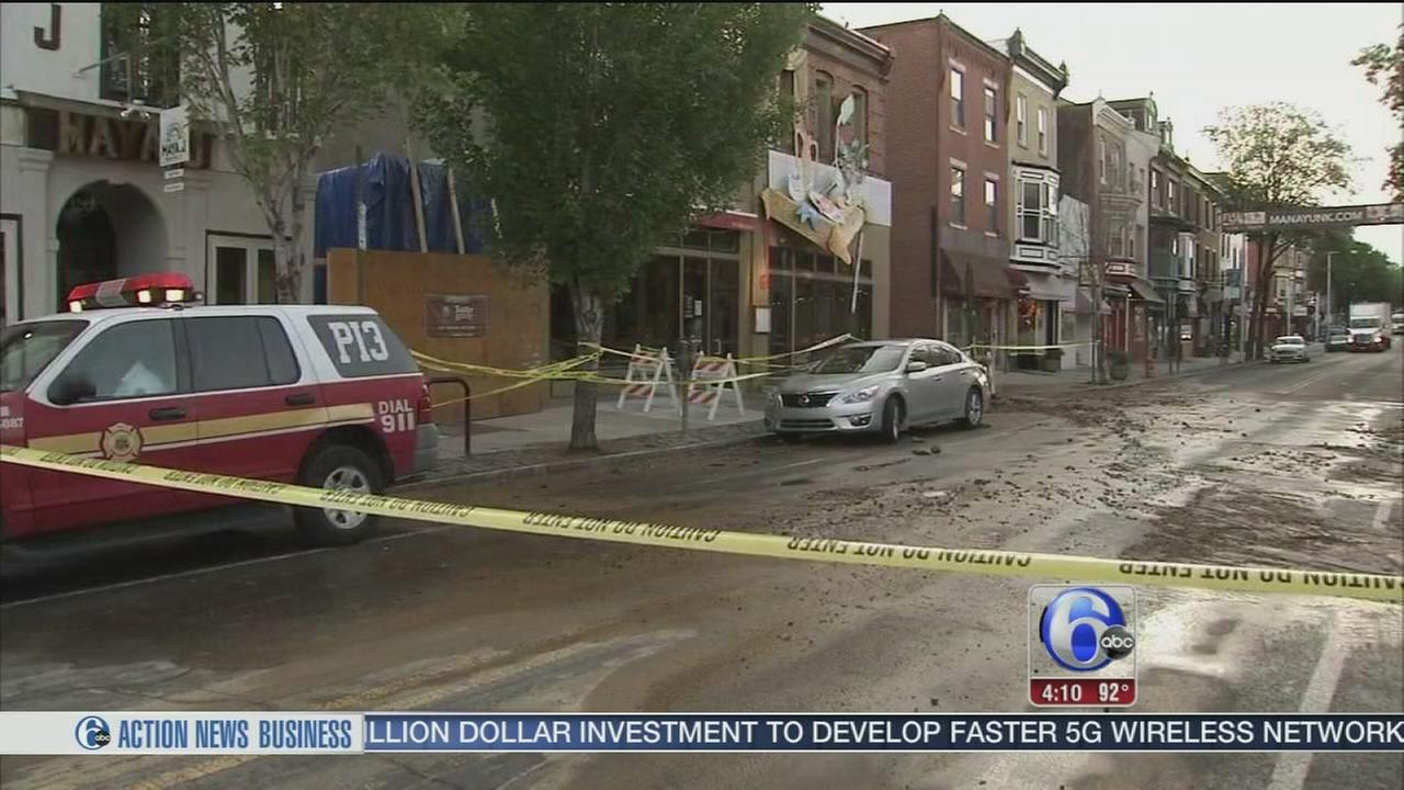 VIDEO: Water main break