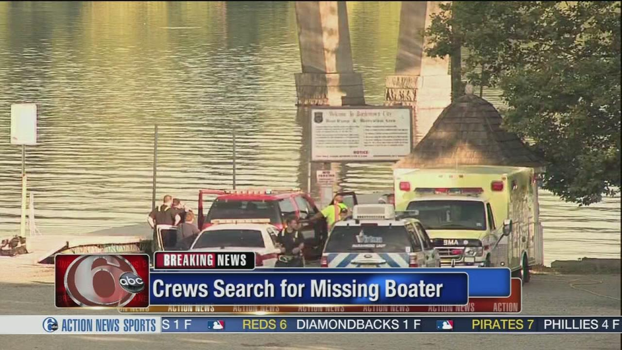 VIDEO: Crews search for missing boater