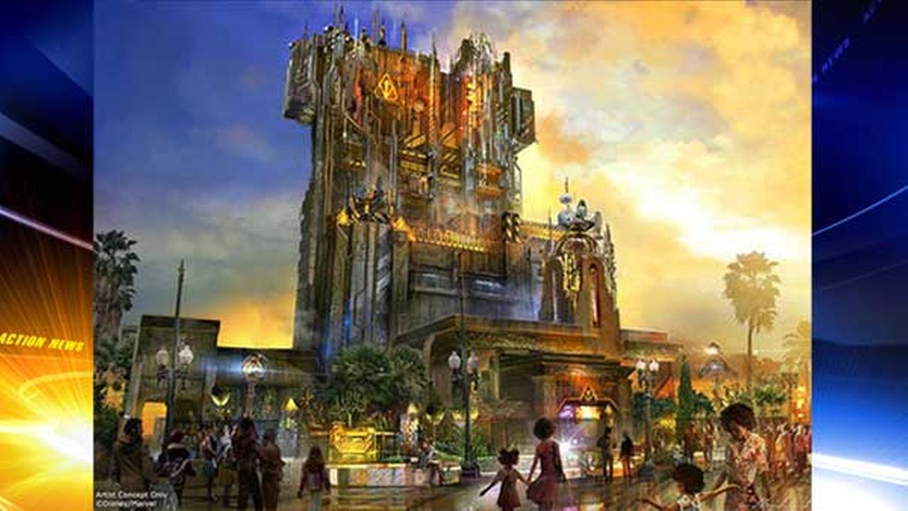 Tower of Terror ride gets superhero makeover at Disneyland