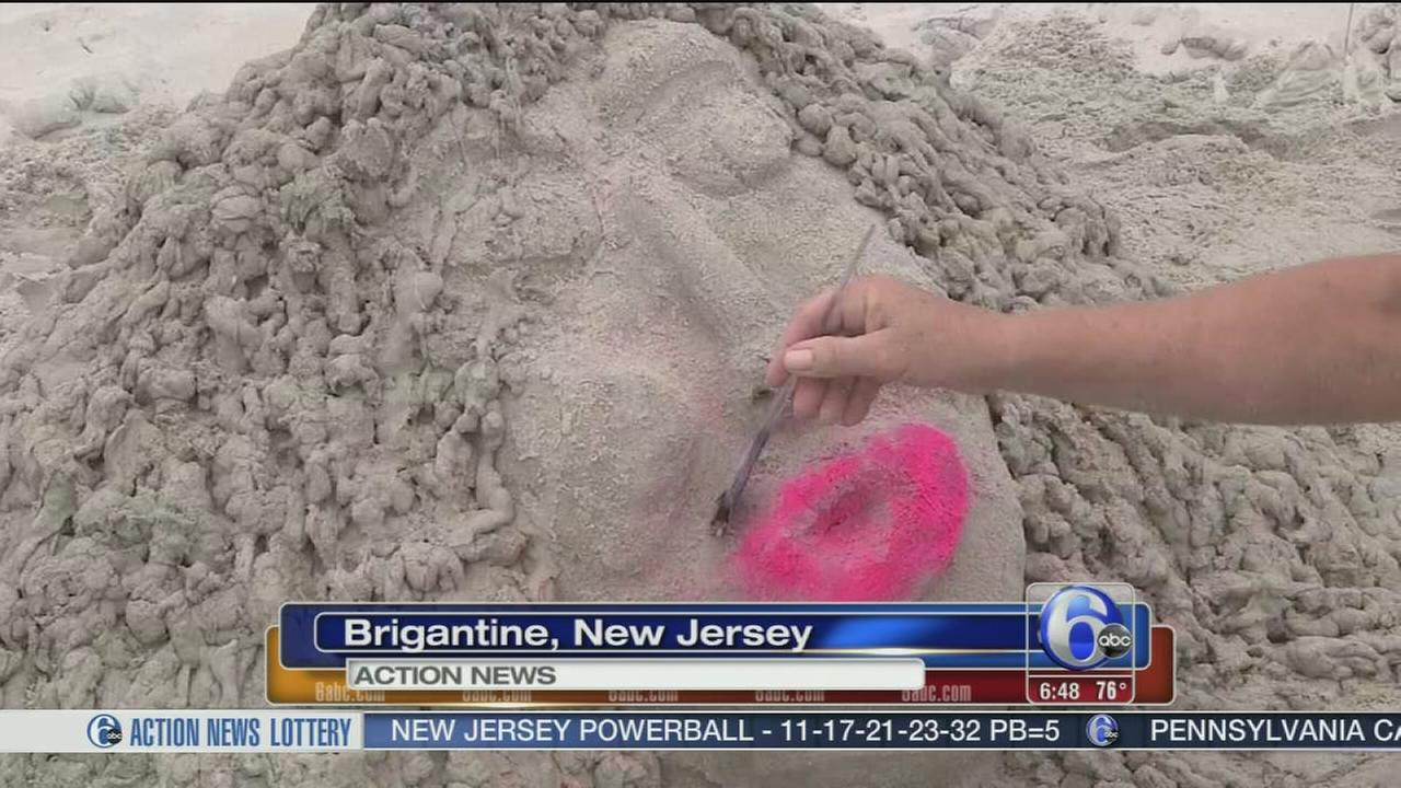 VIDEO: Brigantine sand scultiping competition