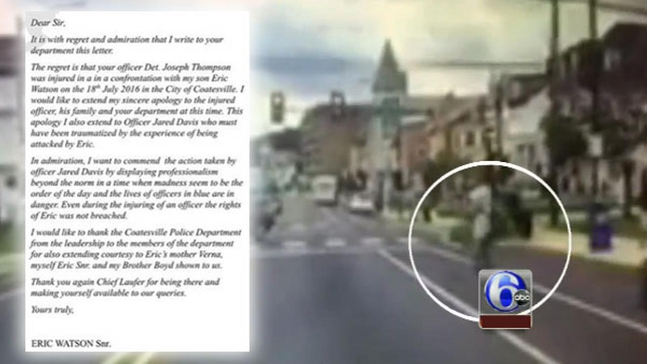 Father of man who attacked Coatesville cop with rock writes apology