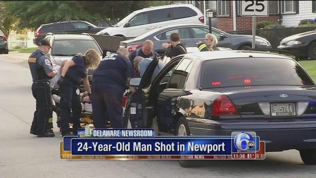VIDEO: Man shot in Newport
