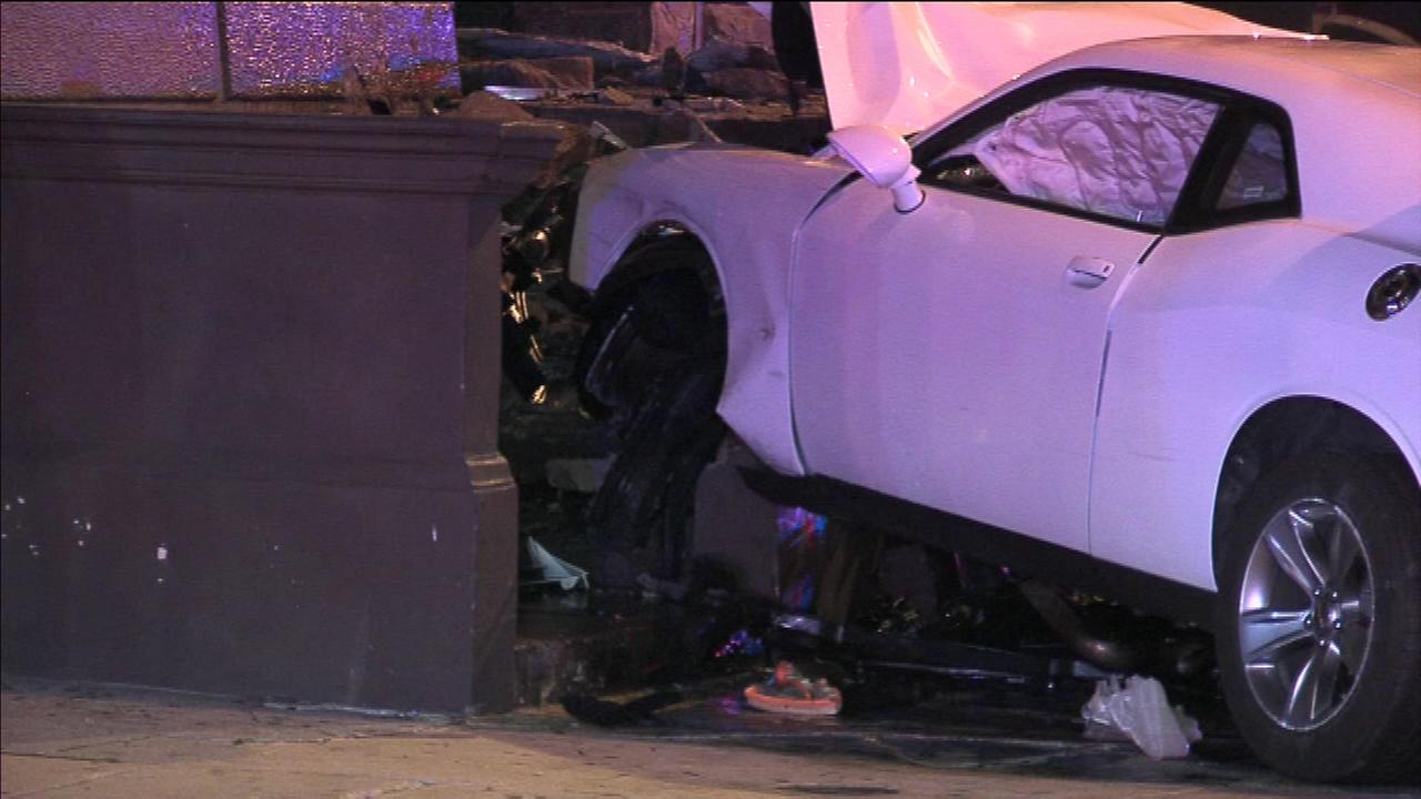 A driver has been hospitalized and faces numerous charges after two crashes along Broad Street, including one near Temple University.