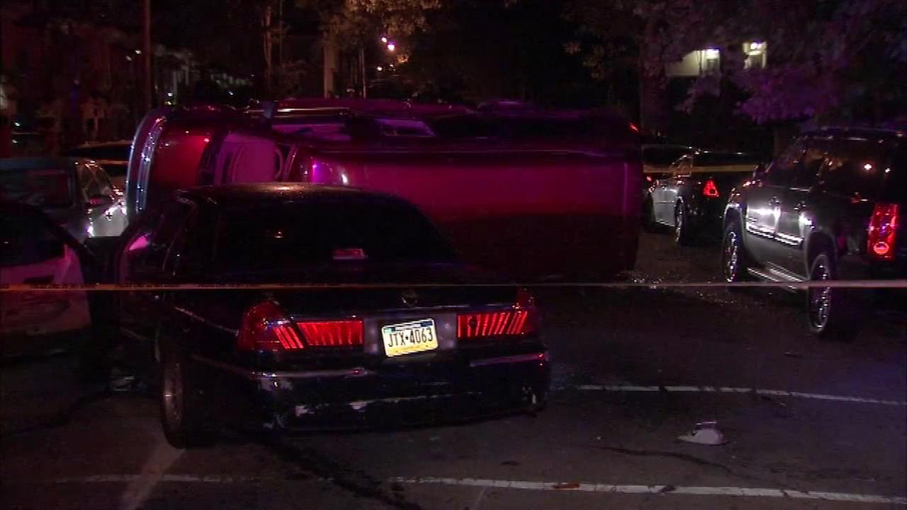 August 15, 2016: It happened at 4:30 a.m. Police say an SUV collided with a car on 66th Avenue at 18th Street and rolled onto its side.