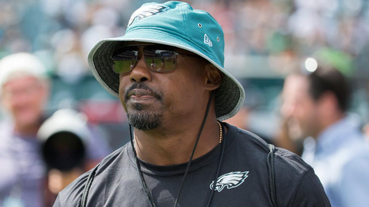 Brian Dawkins looks on as he recently joined the Philadelphia Eagles scouting department during practice at NFL football training camp, Sunday, July 31, 2016, in Philadelphia.
