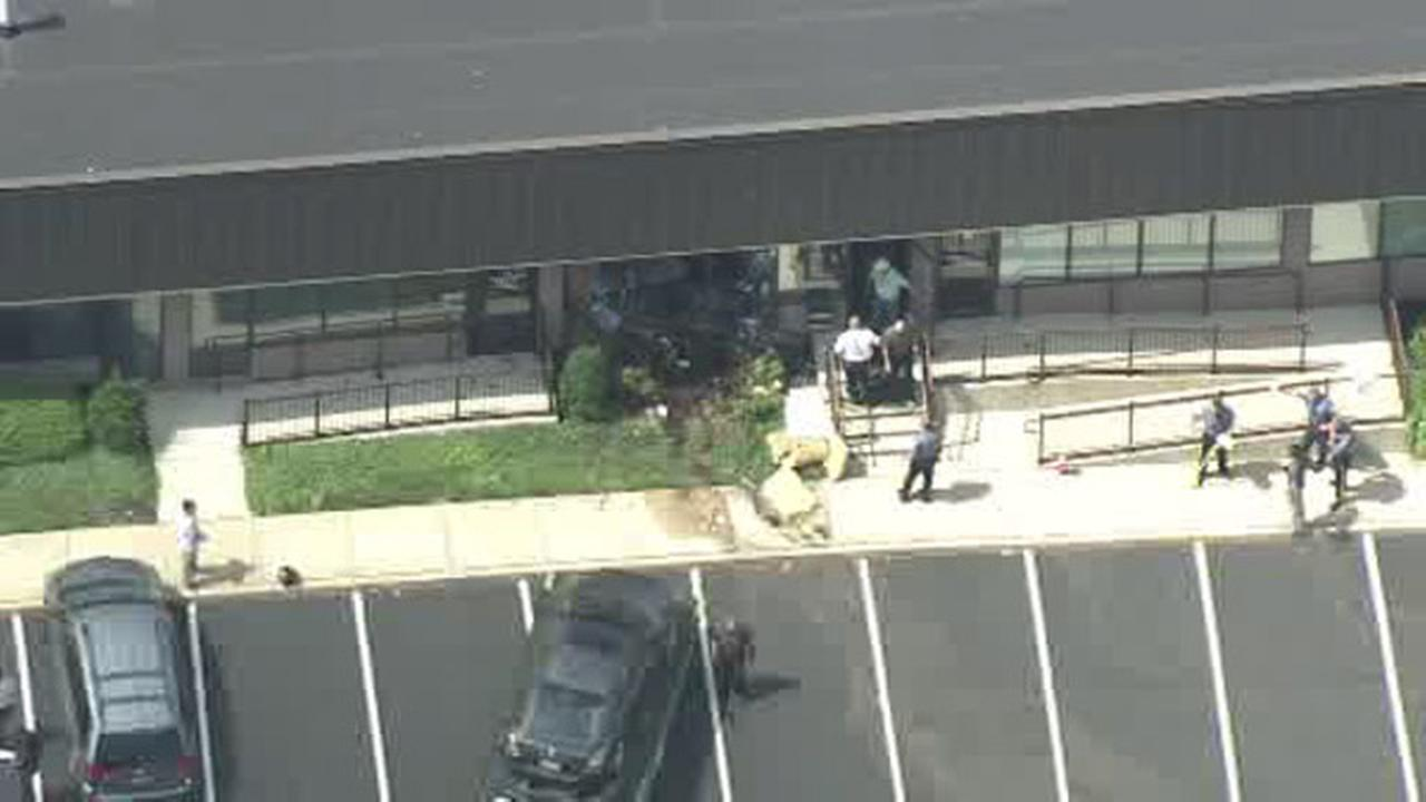 Woman injured after driver crashes into building in Voorhees