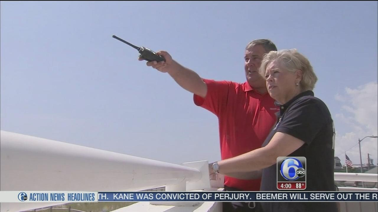VIDEO: Rip current, rough surf warnings at Jersey shore