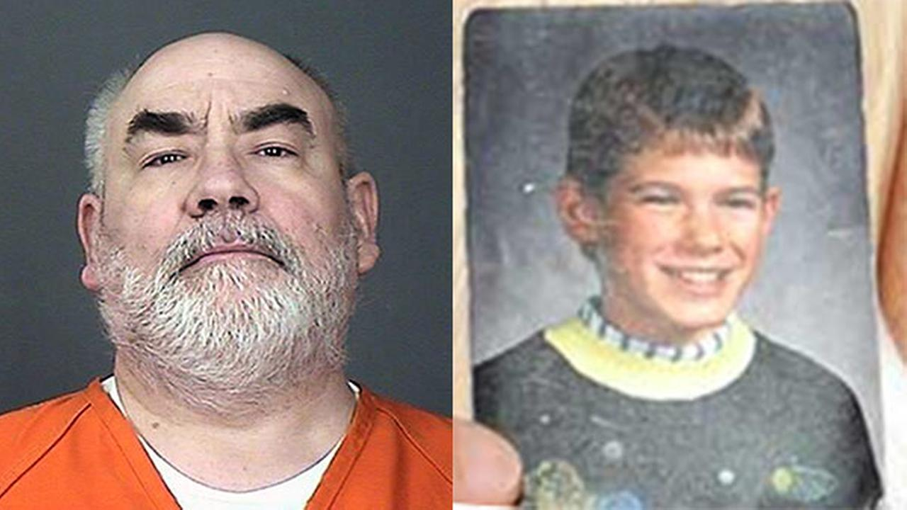 This undated photo provided by the Sherburne County Sheriffs Office shows Danny Heinrich, of Minnesota. /  A photo of Jacob Wetterling.
