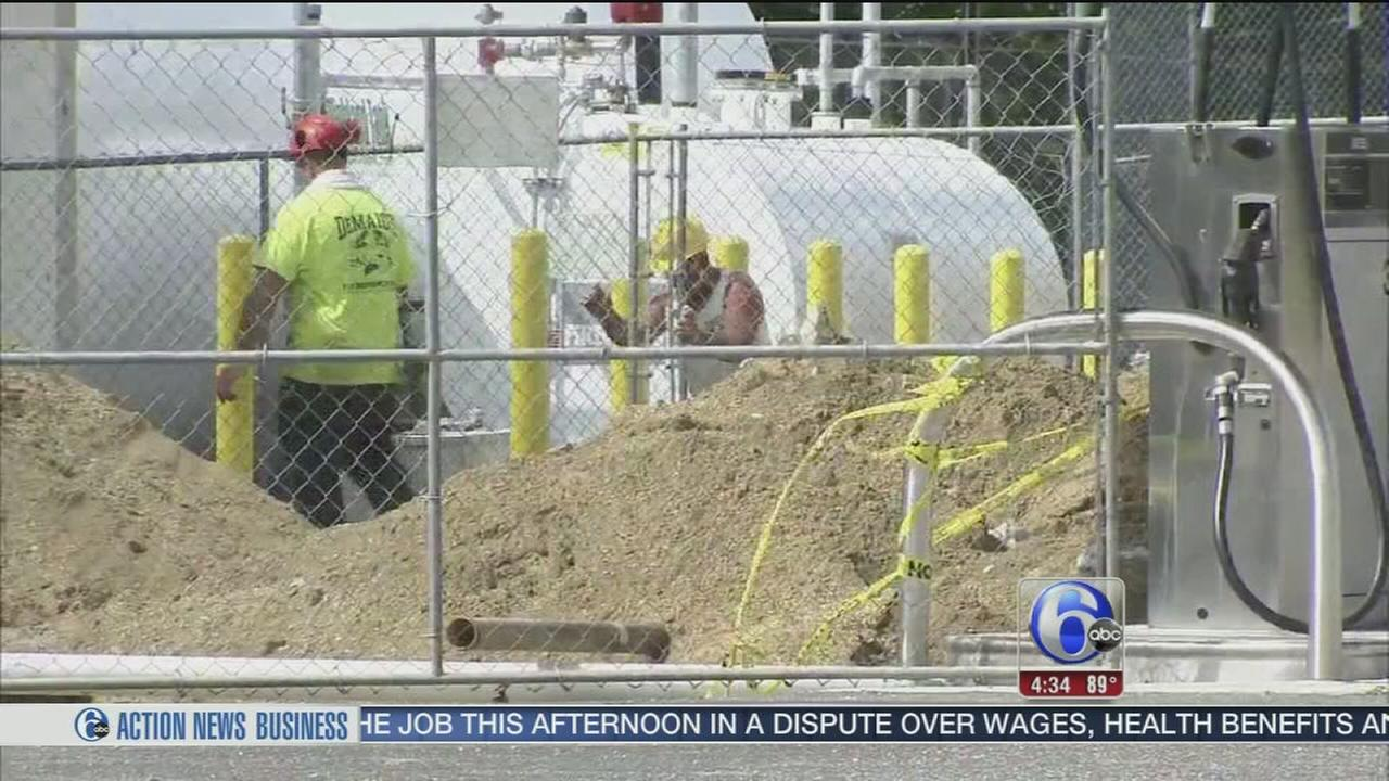 VIDEO: Construction worker burned in explosion near NJ school