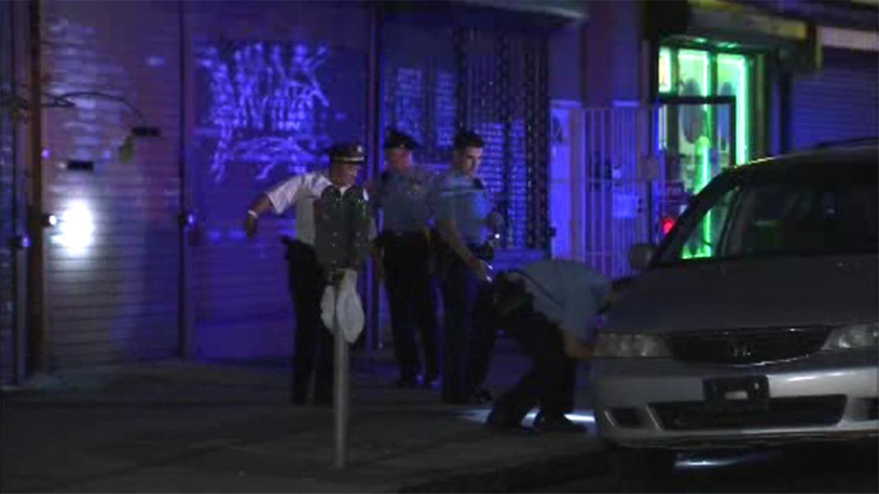 A woman was injured after being shot during a suspected robbery in West Philadelphia.