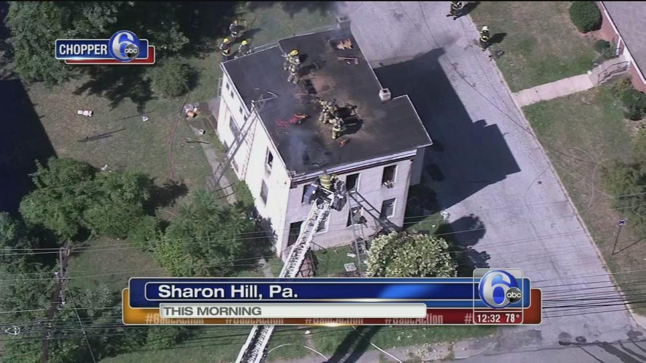 VIDEO: Firefighters battle blaze in Sharon Hill