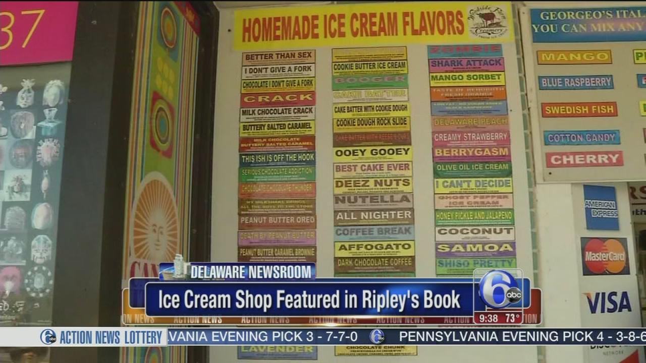 VIDEO: Del. ice cream shop makes the records book