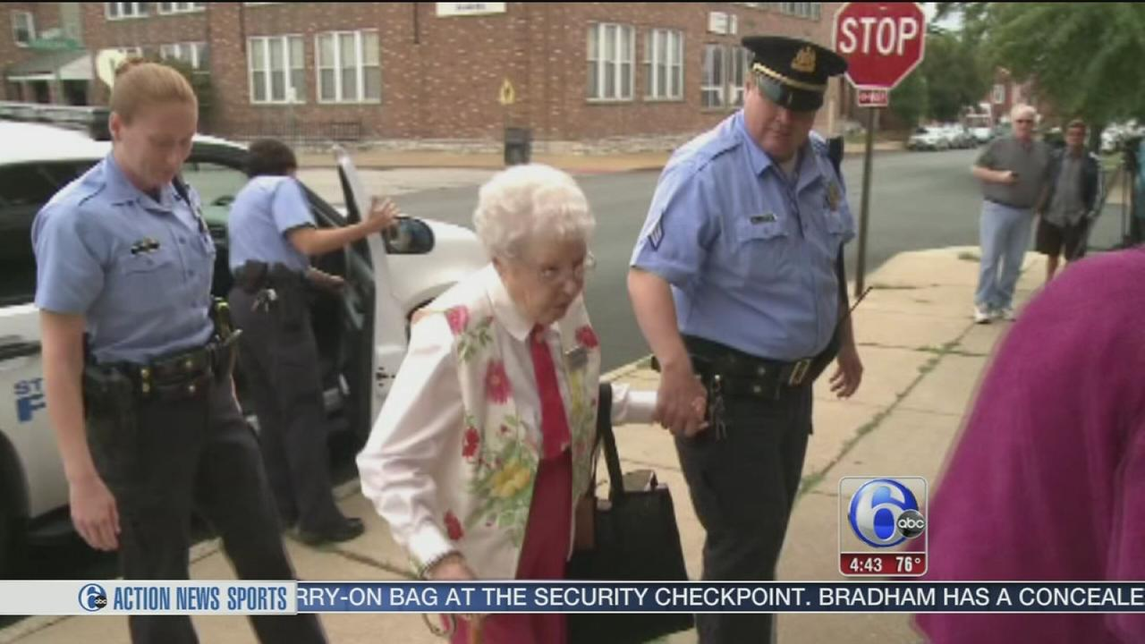 VIDEO: 102-year-old crosses off Arrest on her bucket list