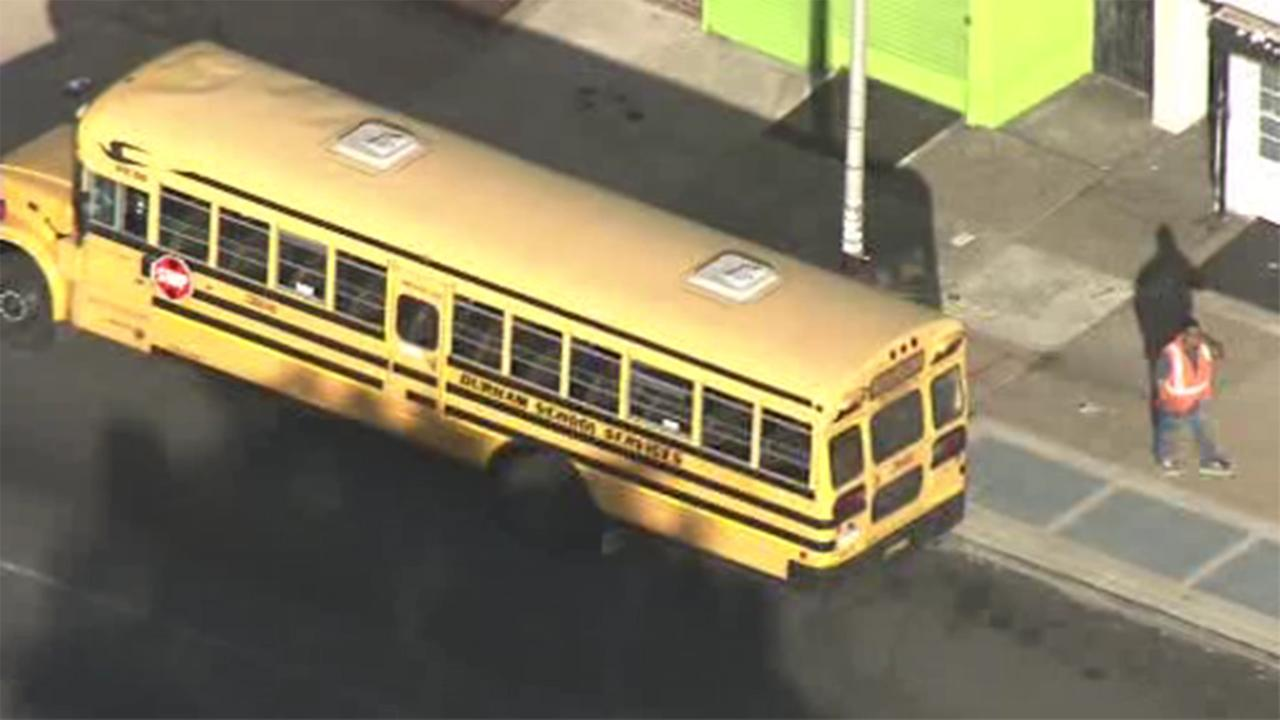 A student was hurt after someone threw rocks at a school bus in Philadelphias Logan section.