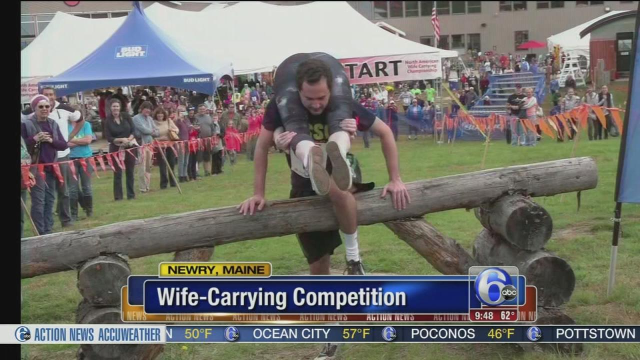 VIDEO: Wife-carrying competition