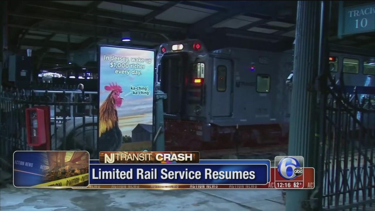VIDEO: Train service resumes after deadly Hoboken crash