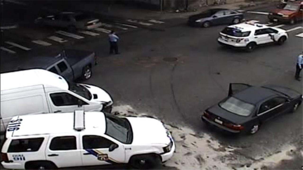 Police car involved in multi-vehicle crash in Tacony