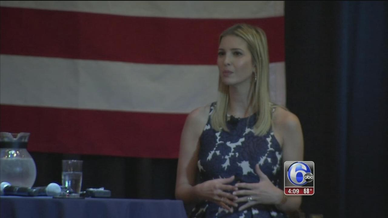 VIDEO: Ivanka Trump campaigns for her dad in Philly suburbs