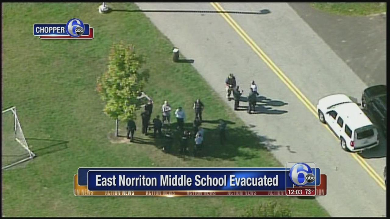 VIDEO: East Norriton Middle School Evacuated