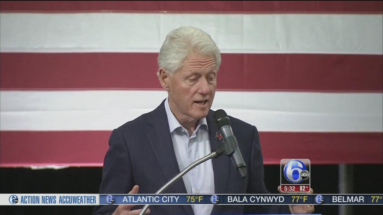 VIDEO: Bill Clinton stumps in Montco