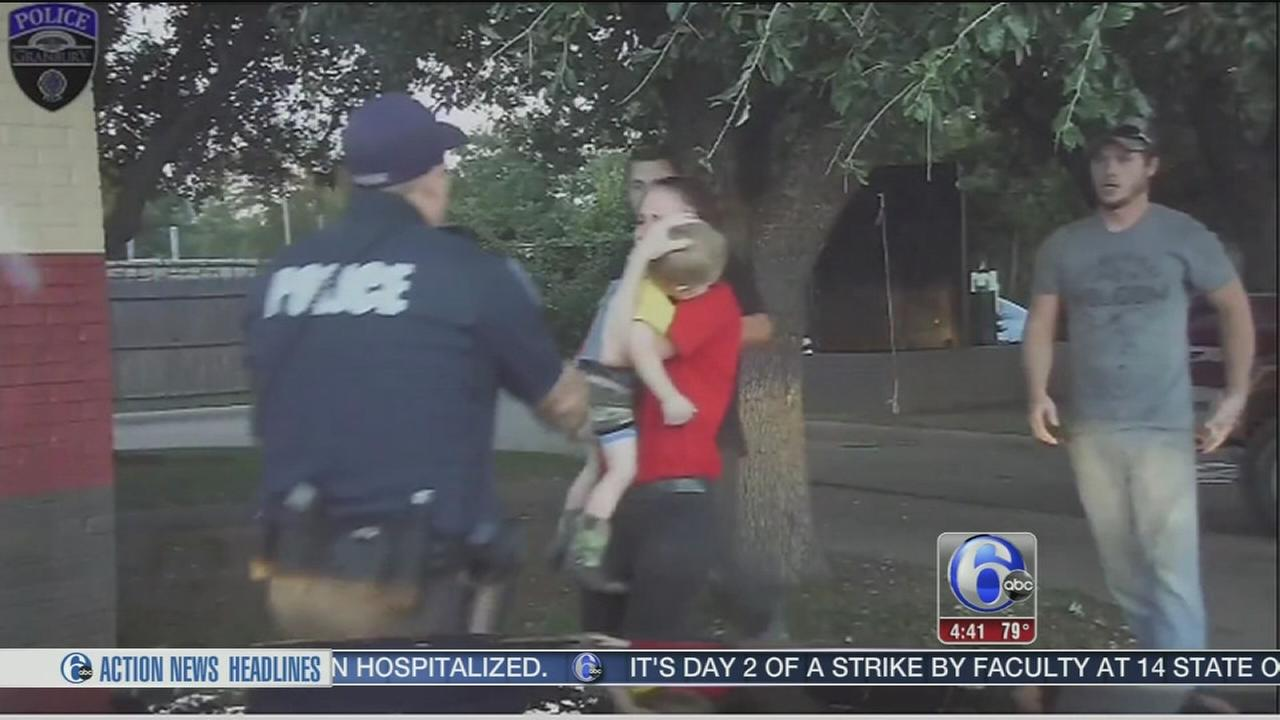 VIDEO: Dramatic dash cam video captures cop saving childs life