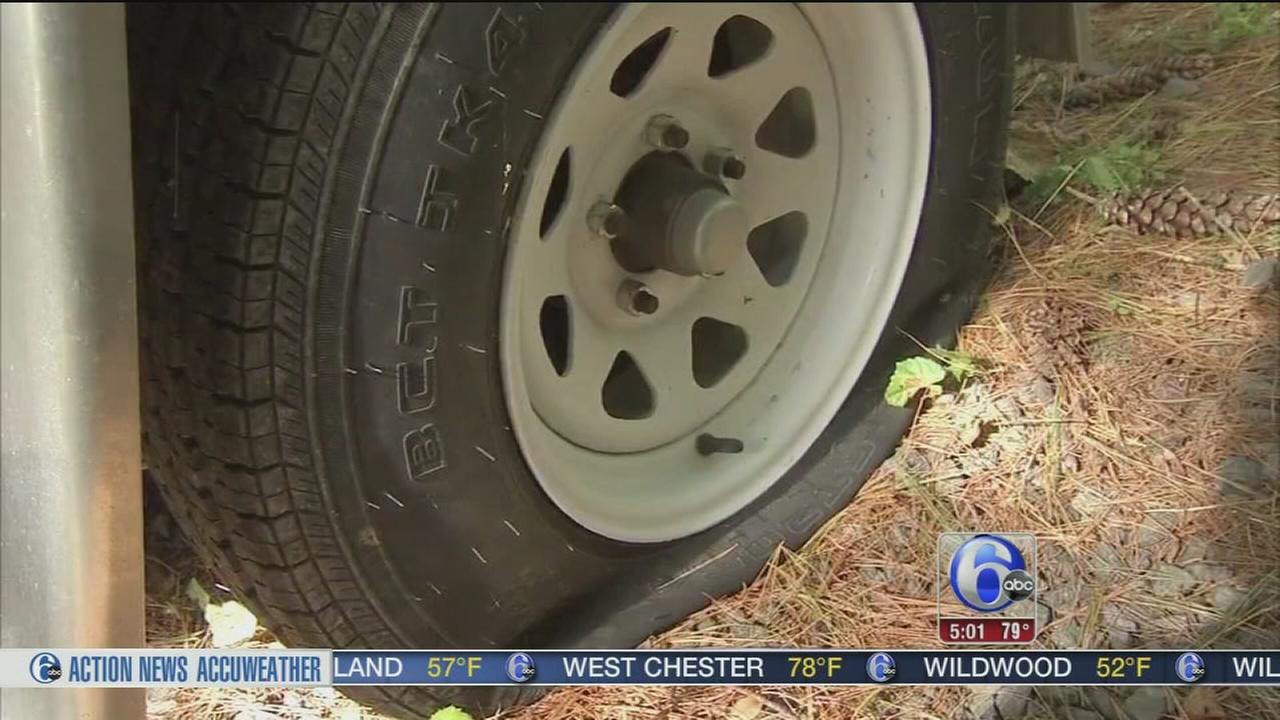 VIDEO: Vandalized trailers