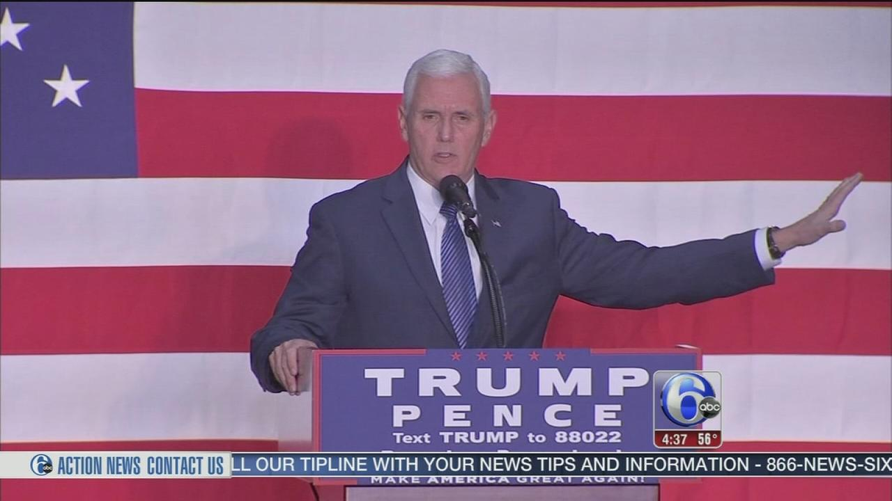 VIDEO: Mike Pence reacts to Clinton email news in Bucks Co.