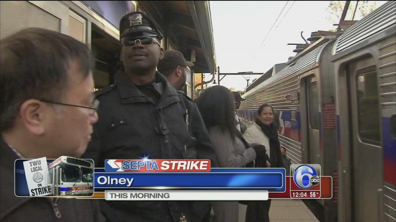 VIDEO: Regional Rail packed as SEPTA strike begins
