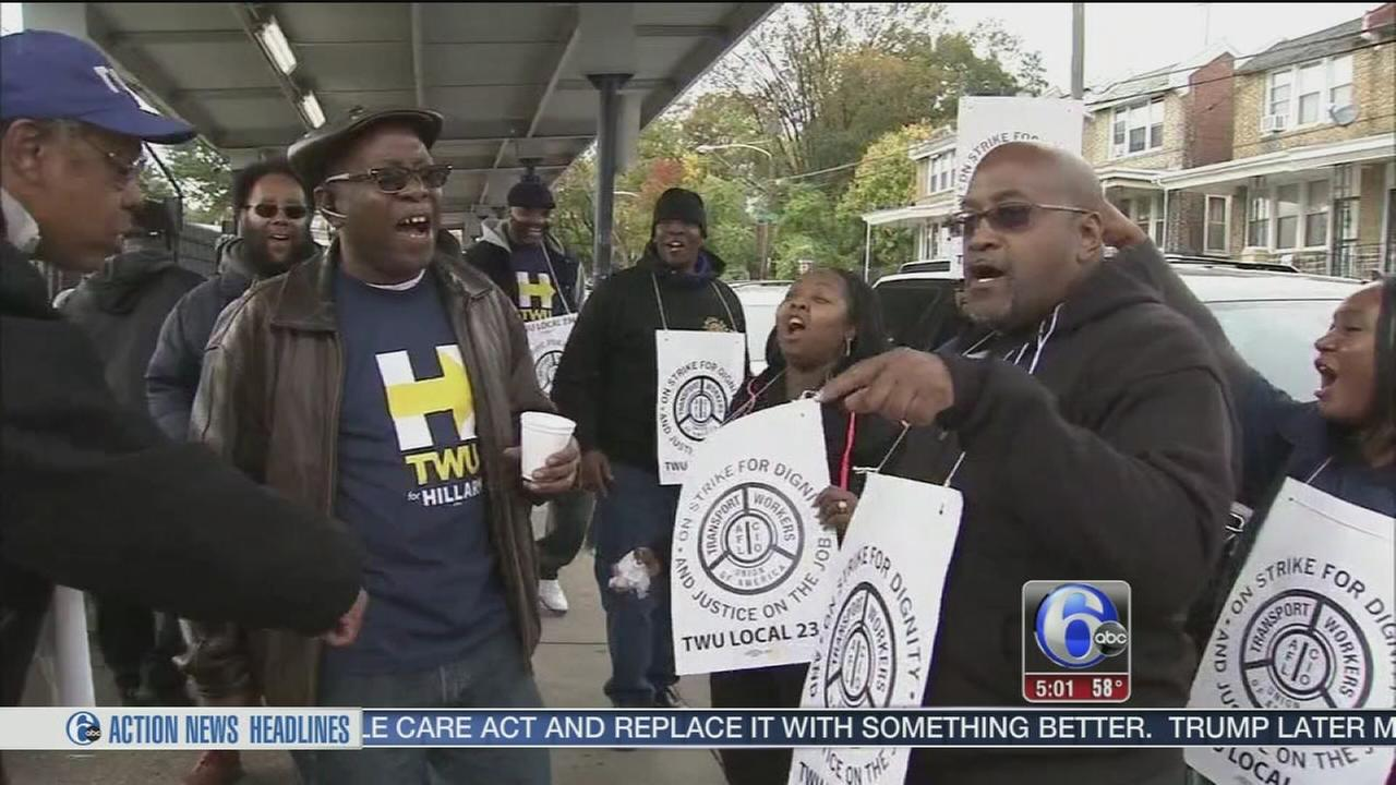 VIDEO: Striking SEPTA workers prepared for long haul