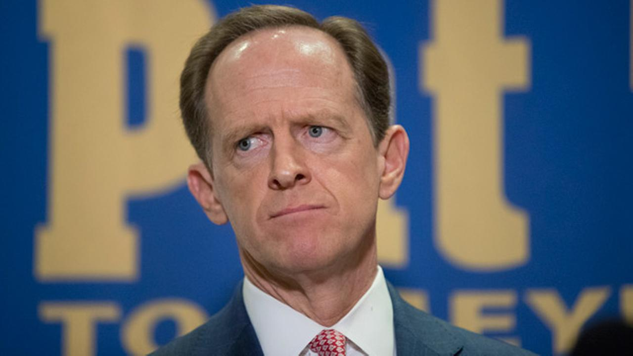Sen. Pat Toomey, R-Pa., during a campaign stop in Villanova, Pa., Tuesday, Oct. 11, 2016.