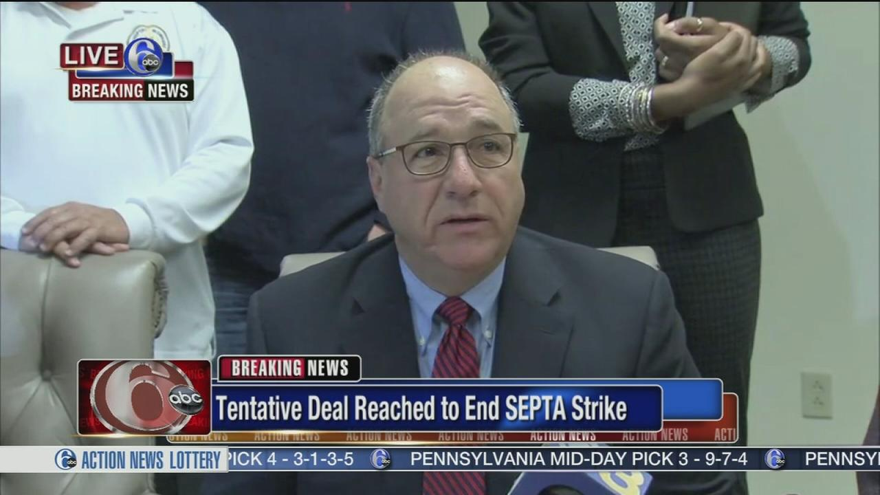 VIDEO: SEPTA chairman announces strike end
