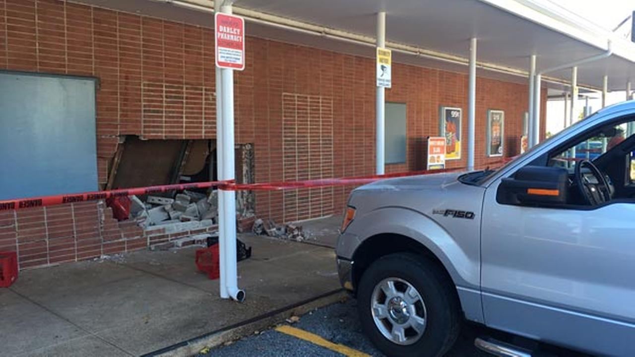 Truck crashes into Claymont pharmacy