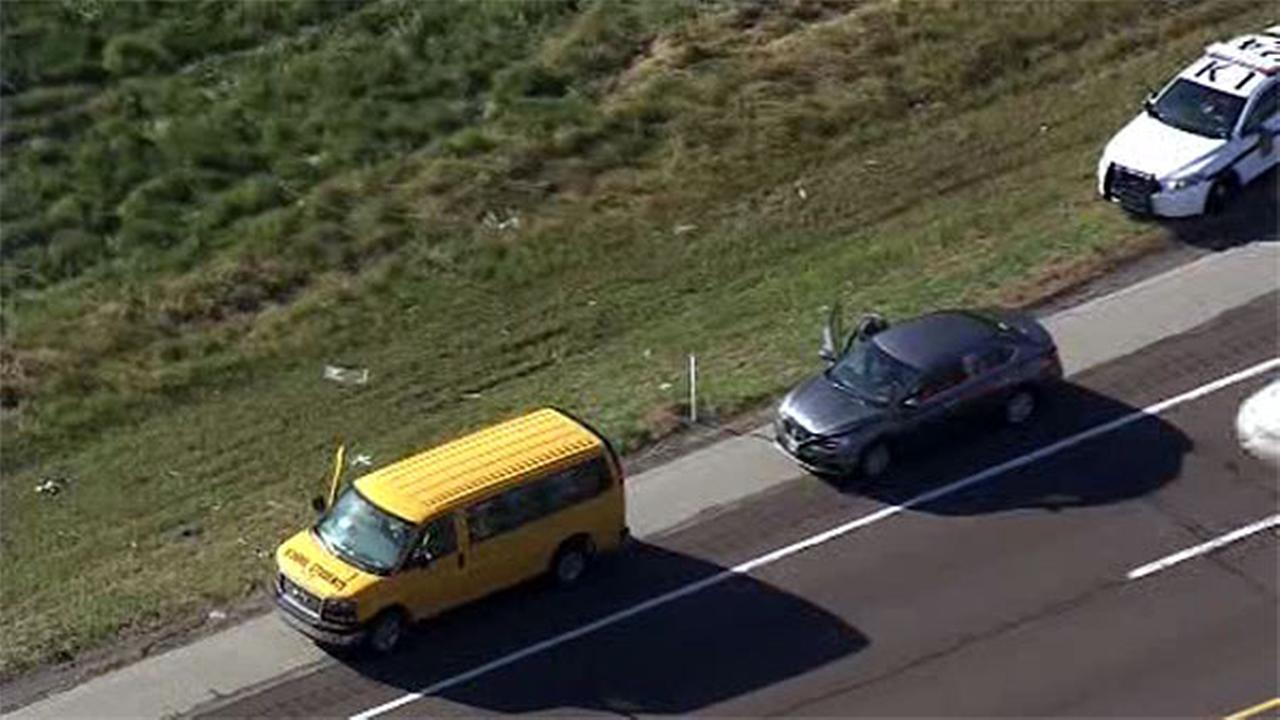 Crash involving school van on Route 422