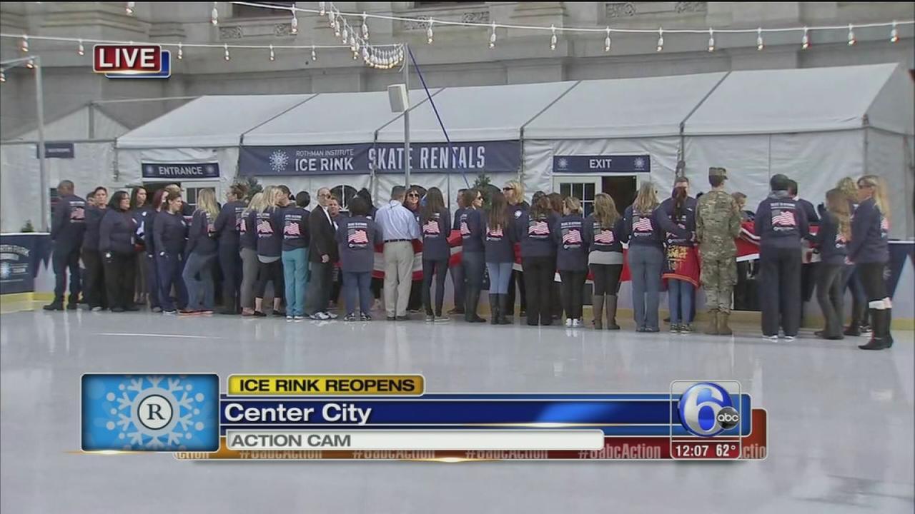 VIDEO: Rothman skating rink opens