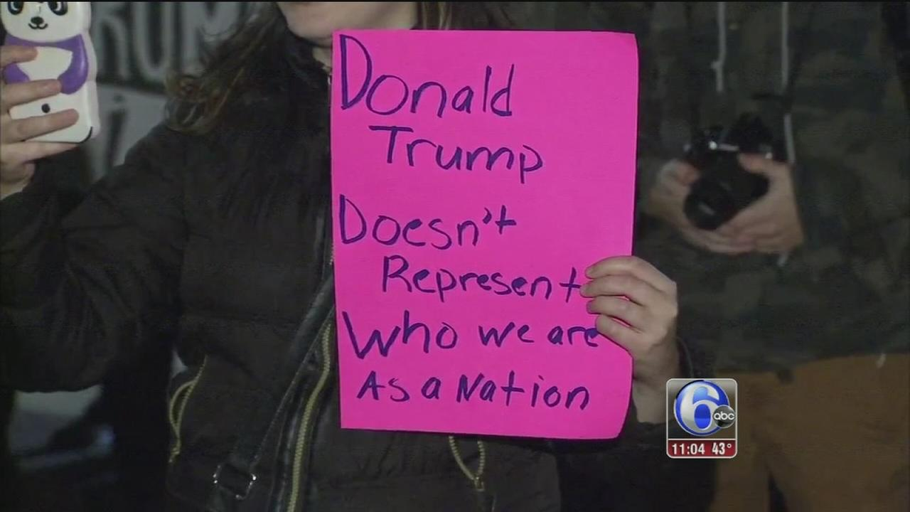 VIDEO: Anti-Trump protests
