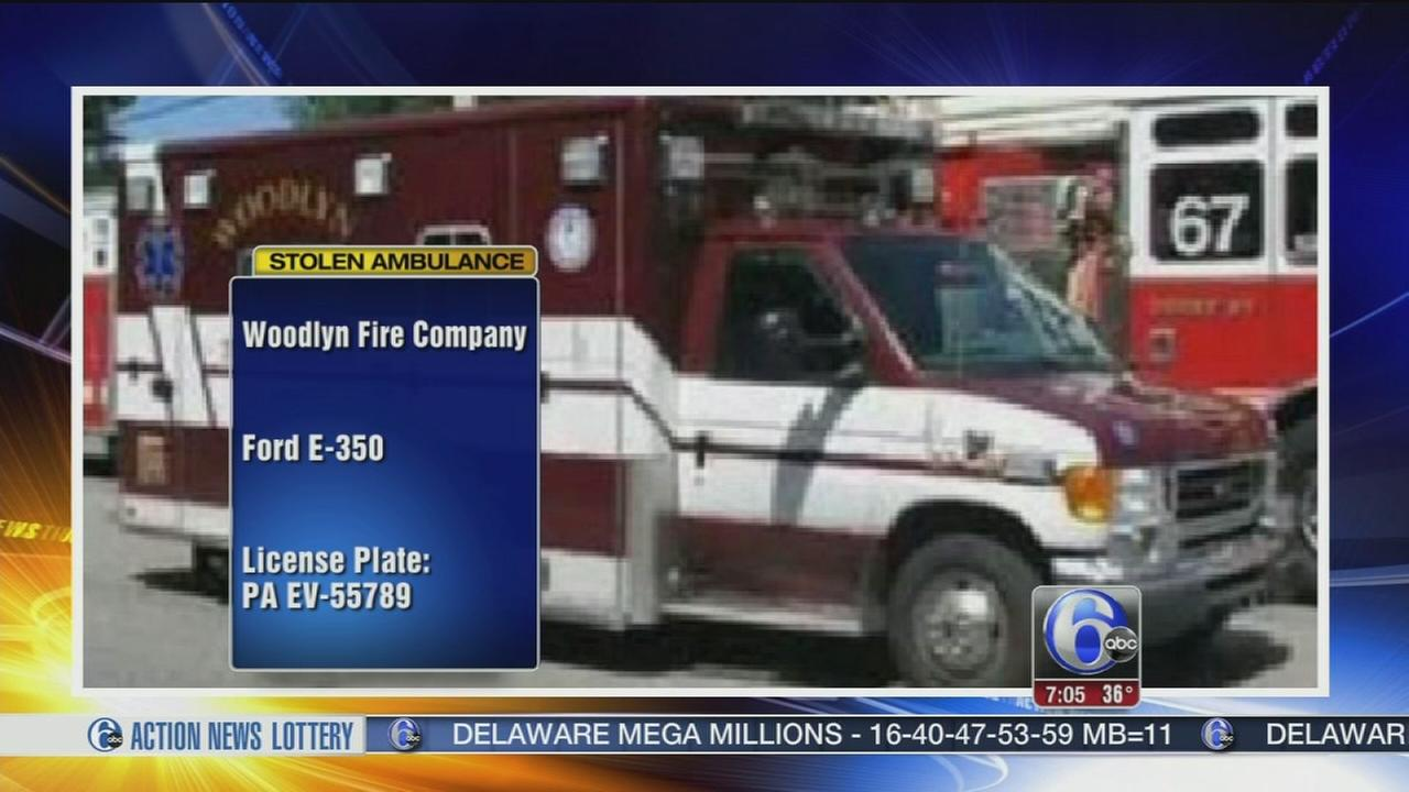 VIDEO: Ambulance stolen from Delaware County fire company