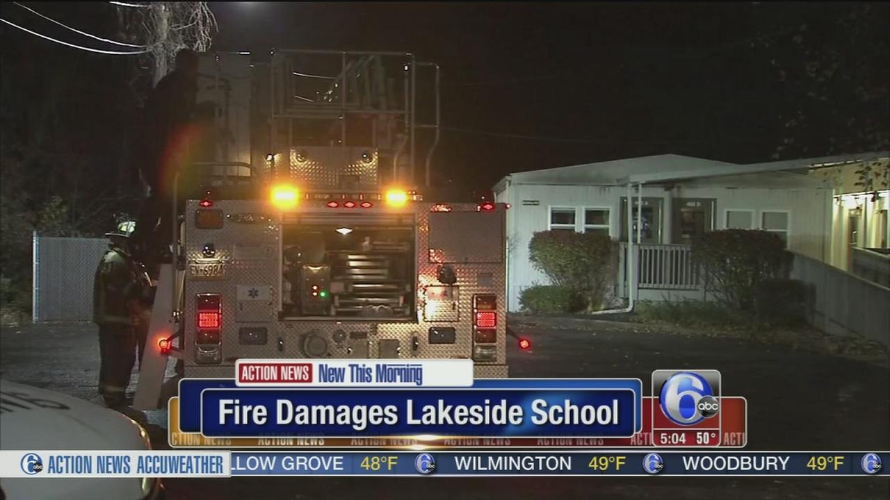 VIDEO: Fire damages school in Montco