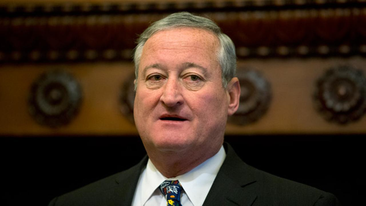 Mayor Jim Kenney speaks during a news conference at City Hall in Philadelphia, Thursday, June 16, 2016.