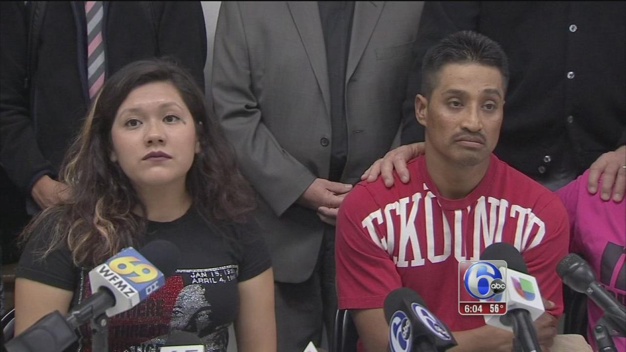 VIDEO: Father of 3 seeks sanctuary in Center City church