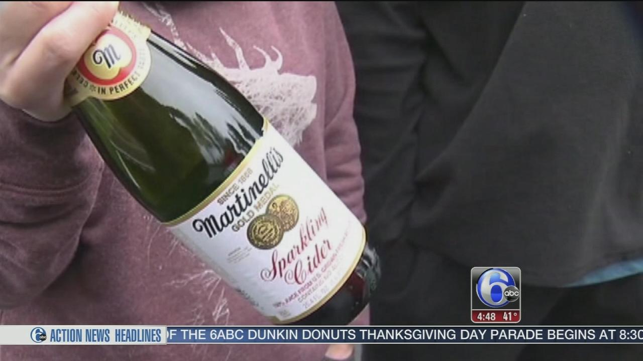 VIDEO: Couple takes down thieve with sparkling cider