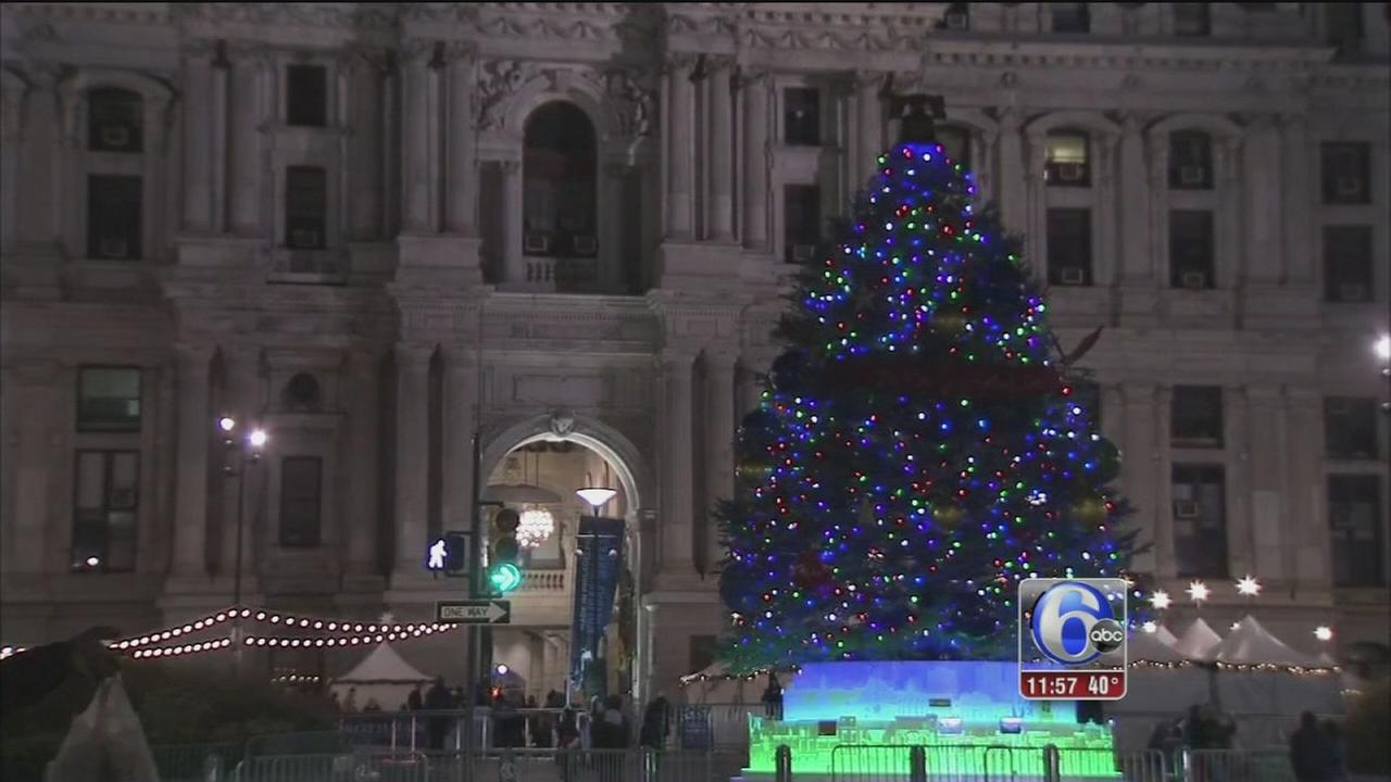 philly holiday tree star of night at lighting celebration