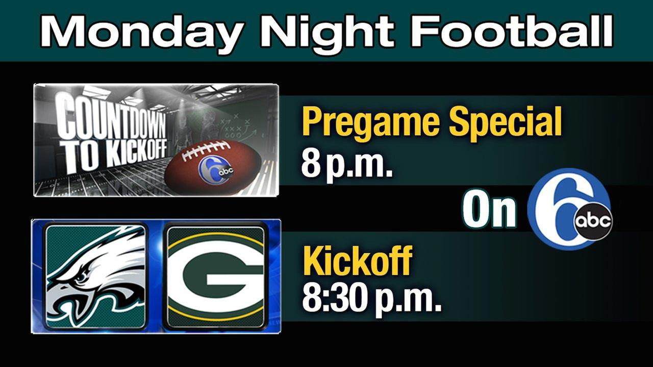 Watch Eagles vs. Packers tonight on 6abc!