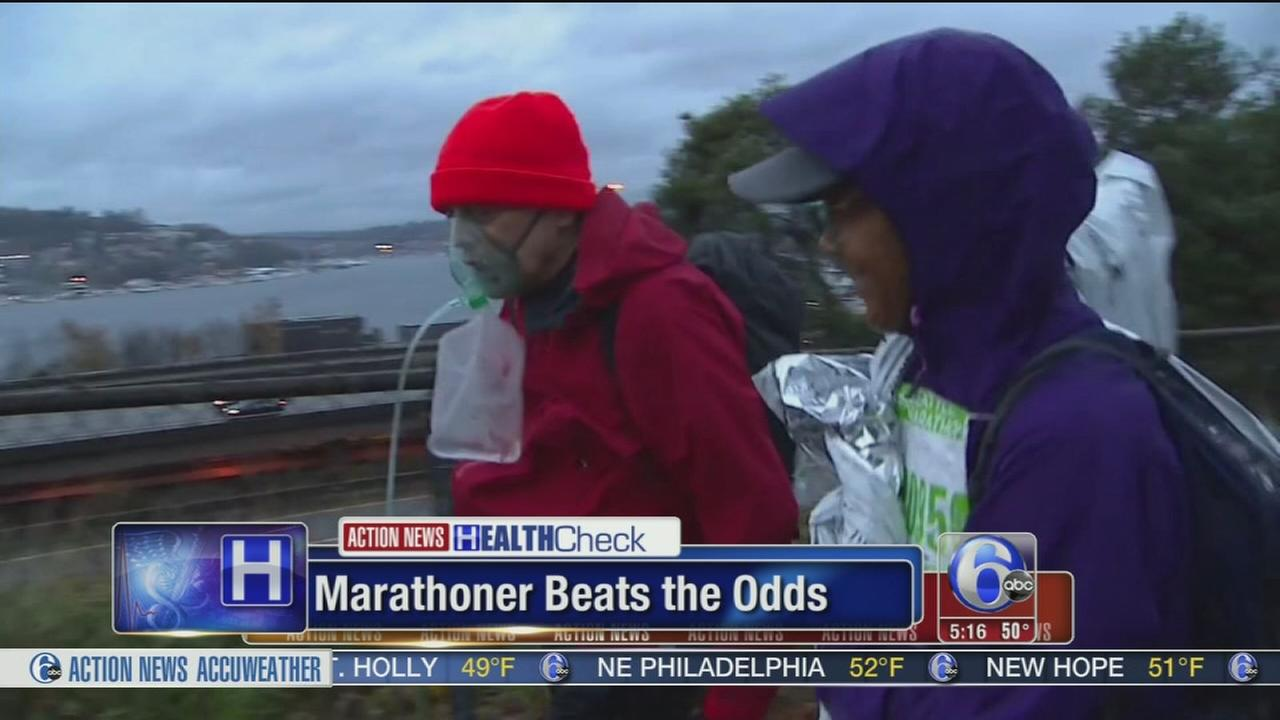 VIDEO: Man with lung disease completes marathon with oxygen tank