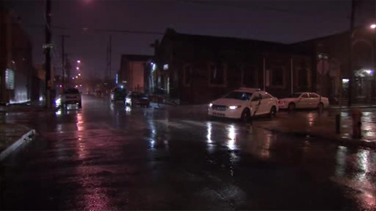 Police are investigating a triple shooting in Philadelphias Grays Ferry section.