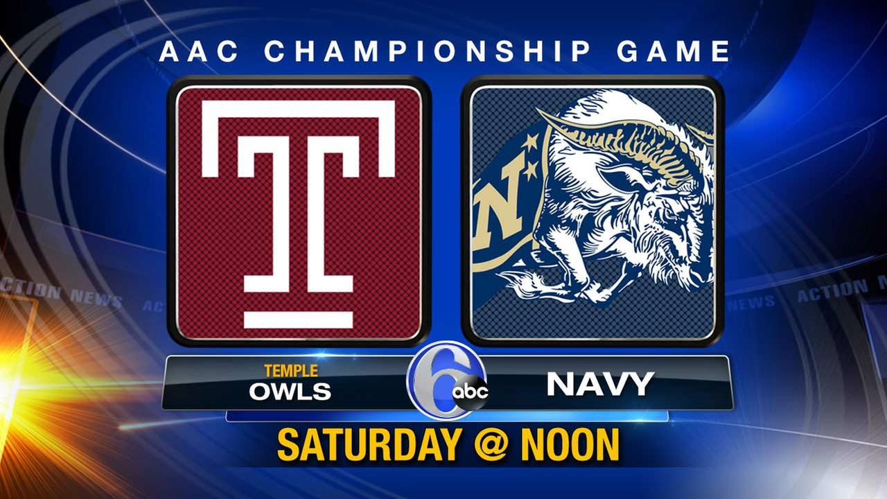 Temple takes on Navy Saturday at 12pm on 6abc