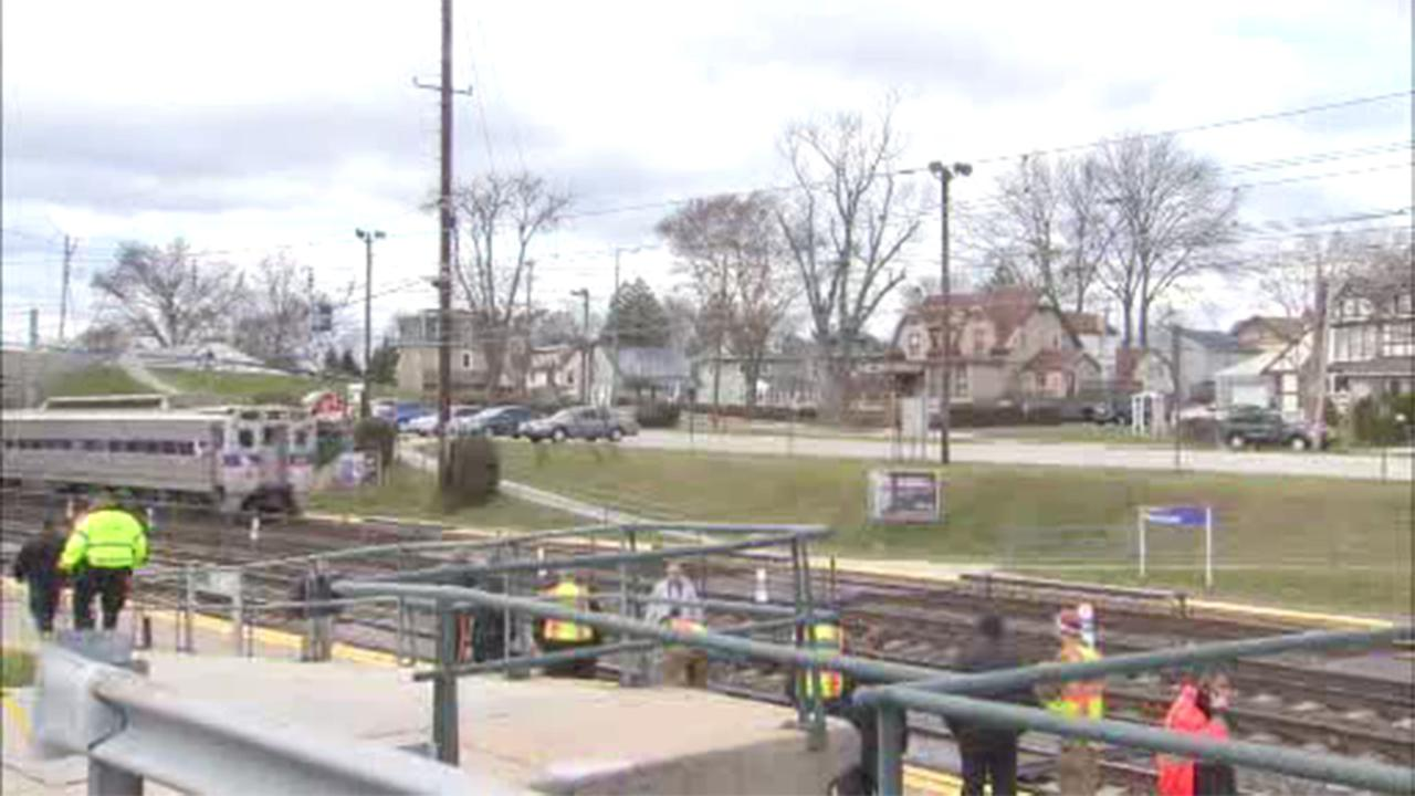 A woman was struck and killed by an Amtrak train Saturday morning in Norwood, Delaware County.