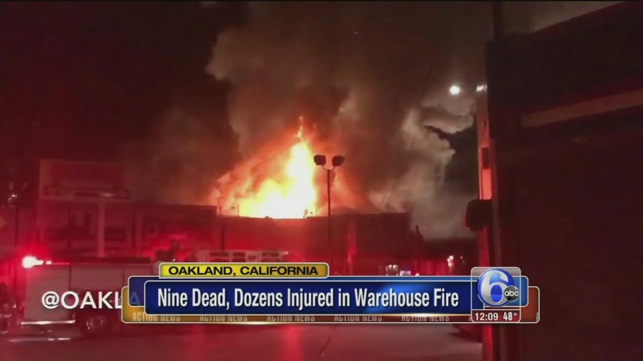 VIDEO: Oakland fire