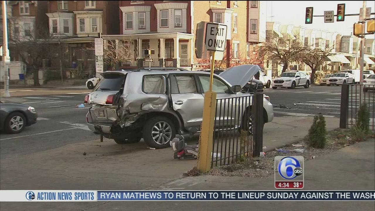 VIDEO: 3 kids hurt in W. Philly crash