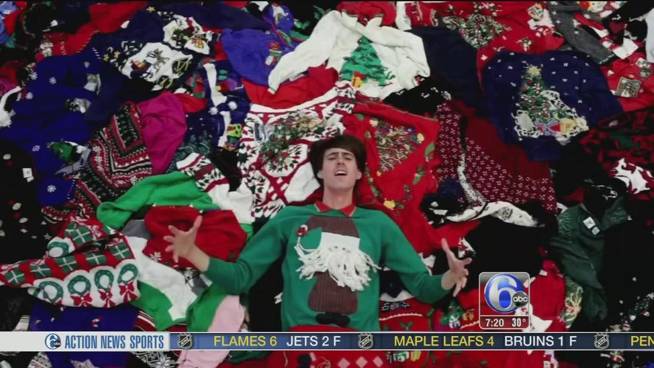 Ugly Christmas sweater shop hires singing applicants | 6abc.com