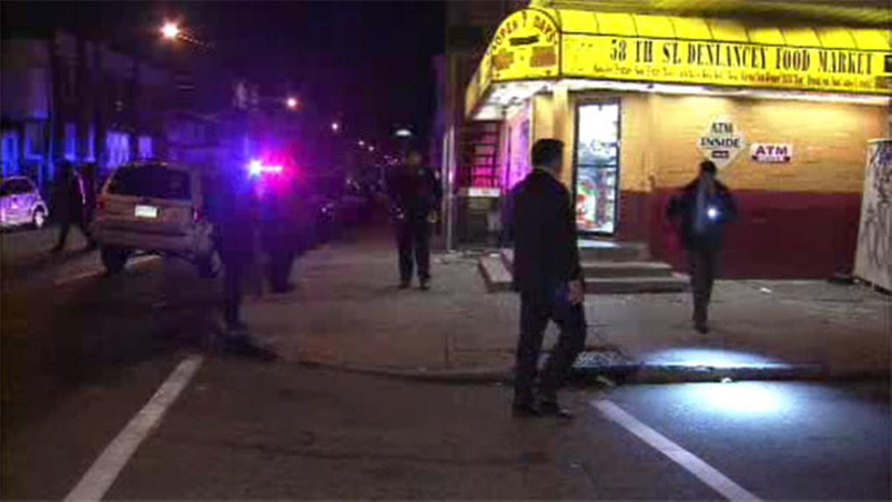 3 men shot outside store in West Philadelphia
